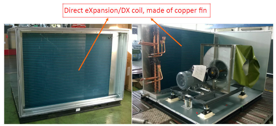 Dx Cooling Coil Type Air Handling Unit Ahu With Plug Fan