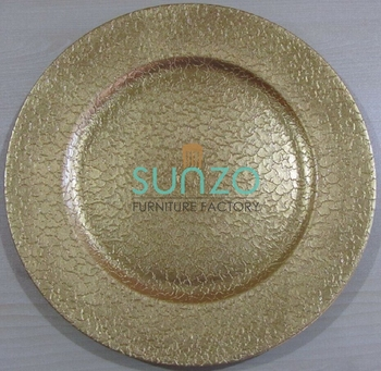 SZ-PC016 Decorative Cheap Gold Plastic Charger Plates Wholesale For Weddings For Parties & Sz-pc016 Decorative Cheap Gold Plastic Charger Plates Wholesale For ...