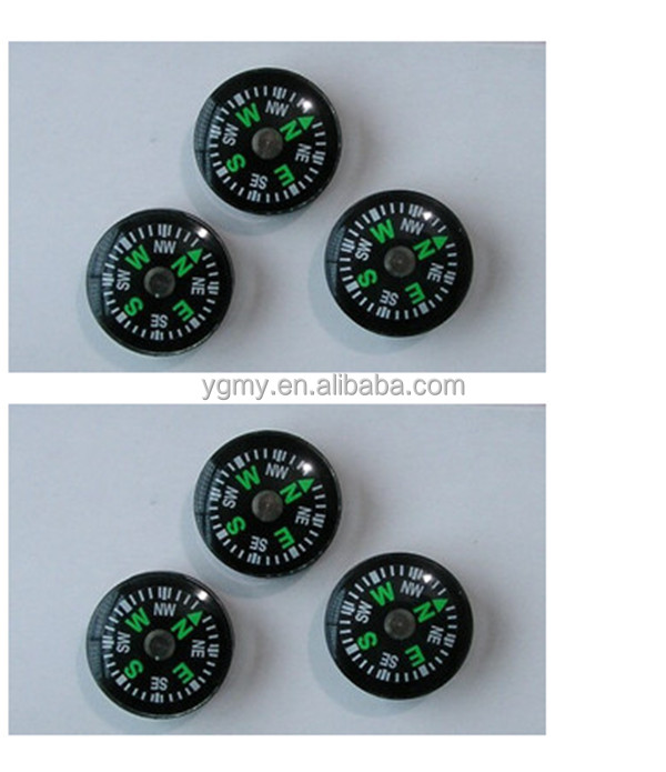20mm Diameter Liquid Filled Luminous Dial Button Compass