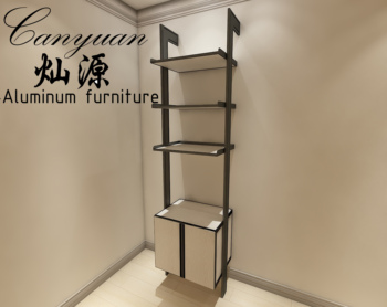 Open style wardrobe make from full-aluminum materials