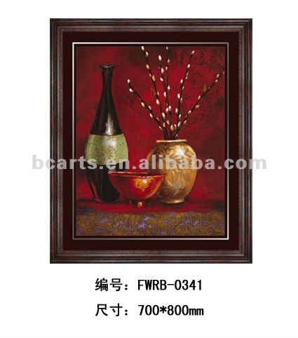 Decorative wall hanging high quality still life painting frame