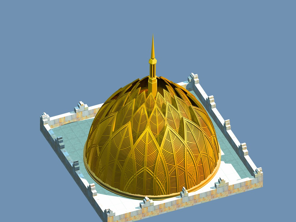 OEM aluminum fence or screen as contractor's drawing custom aluminum mosque dome roof