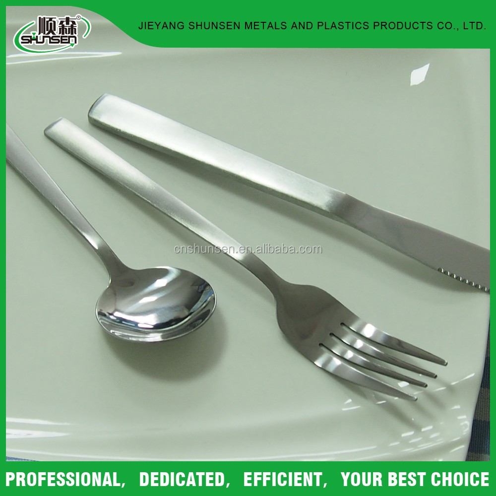 3 Piece Set Stainless Steel Knife, Fork and Tea Spoon Flatware