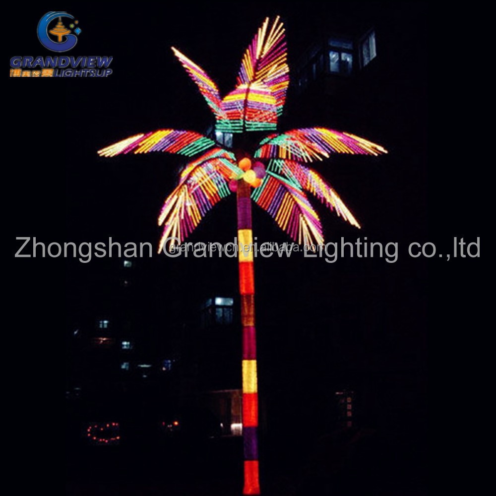 led outdoor multicolor palm tree light colorful branches decorative tree lights buy led multicolor palm tree tree
