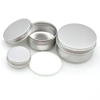 ointment salve unguent aluminum cosmetic containers cream aluminium can 50g 60g 100g 150g 200g 250g cosmetic aluminum tin jar