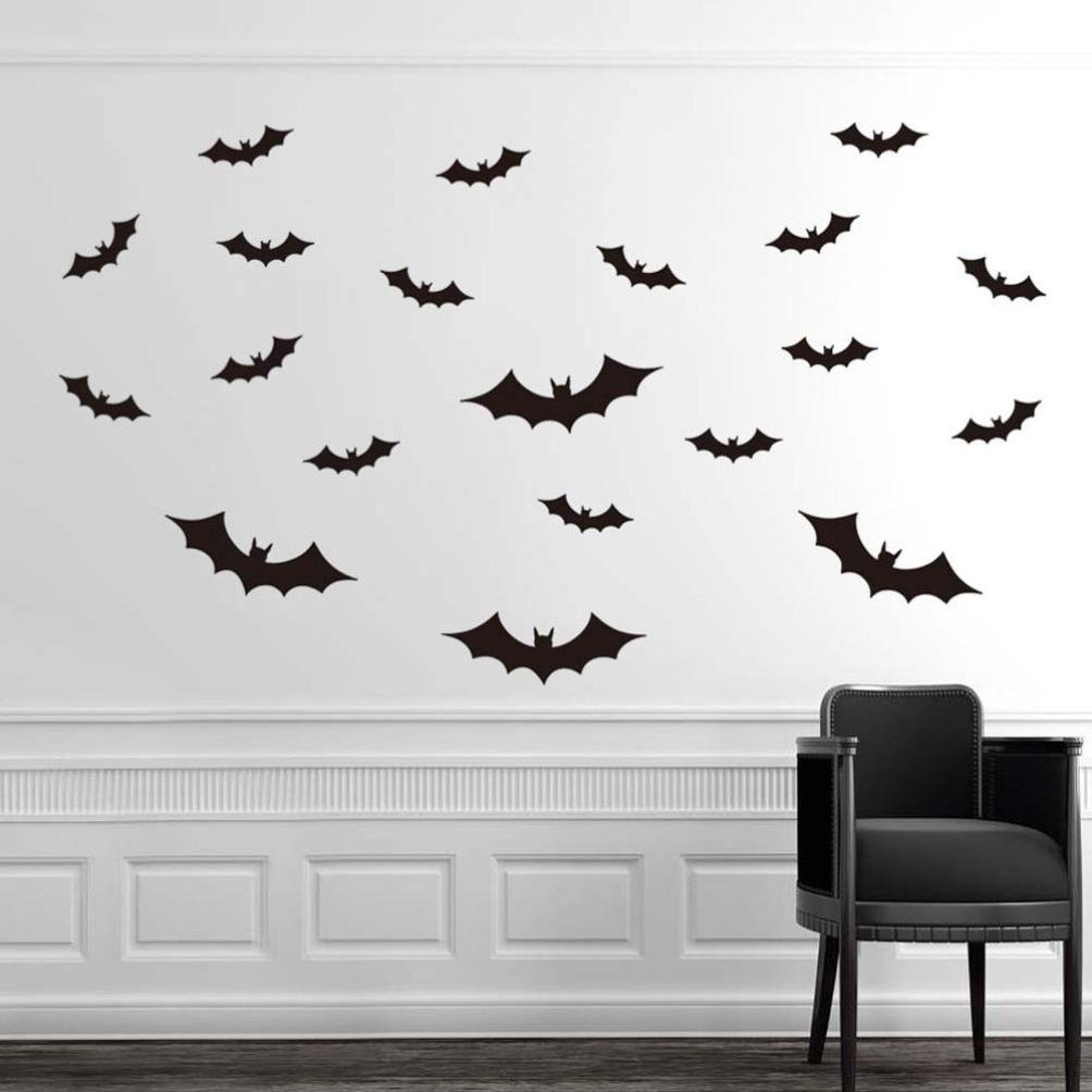 Oksale® Halloween Bat Wall Stickers Papers PVC Art Vinyl Removable Bedroom Living Room Home Showcase Applique Mural Decor Decal