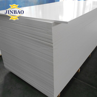 JINBAO Good hardness white expanded pvc foam 3mm 5mm 6mm for exhibition board