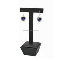Pu leather black jewelry store showcase jewelry display set luxury earring jewelry display trays plastic for earrings