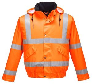 High visibility jacket security guard dress/ uniform reflective windbreaker