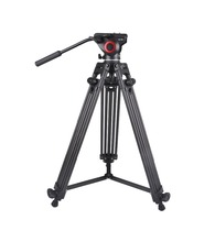 Gizomos OEM Customized LOGO Hot Sale Lightweight Carbon fiber Professional Fluid Panning head Video camera Tripod