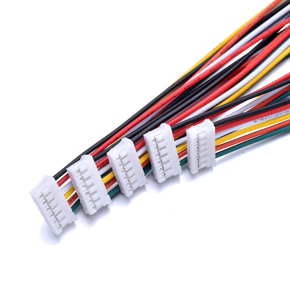 1.0mm 1.25mm 1.5mm 2.0 2.54mm 2/3/4/5/6 Pin Connector Electric Wire & Plug SH JST ZH PH XH Female  Custom Cable Assembly