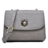 2017 new high quality fashion designer crossbody bag grey vintage leather handbags imported genuine leather women