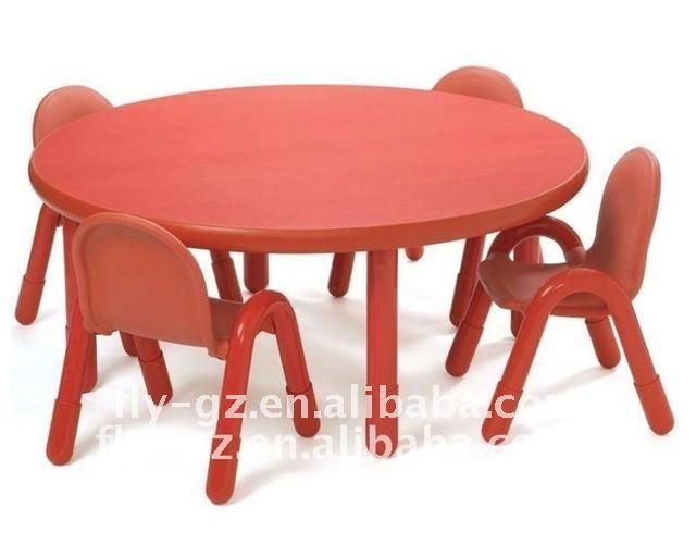 Haute qualit enfants en bois rond table et chaise pour for Table et chaise pour enfants