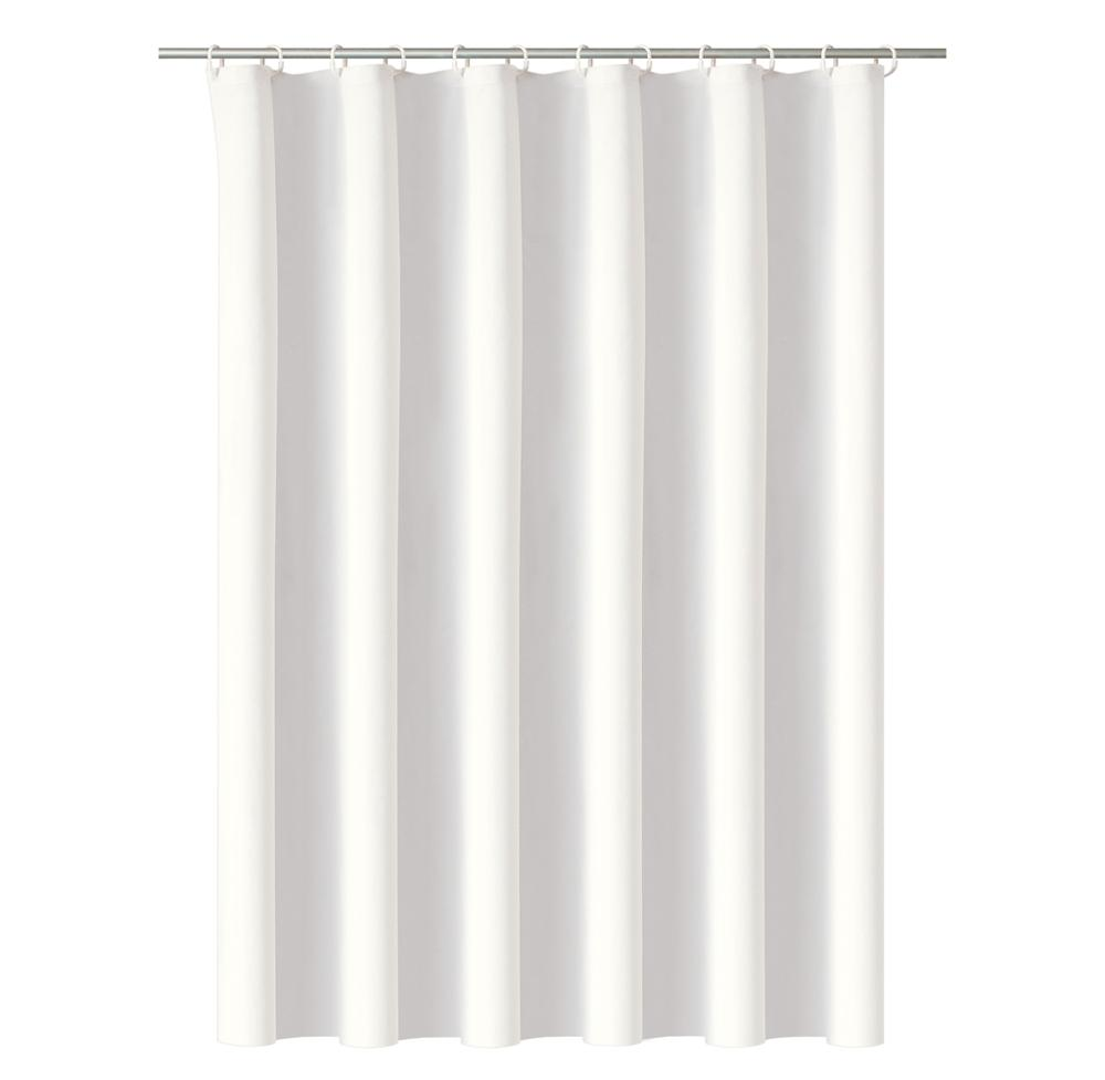 Simple curtain design solid color PEVA high quality shower curtain