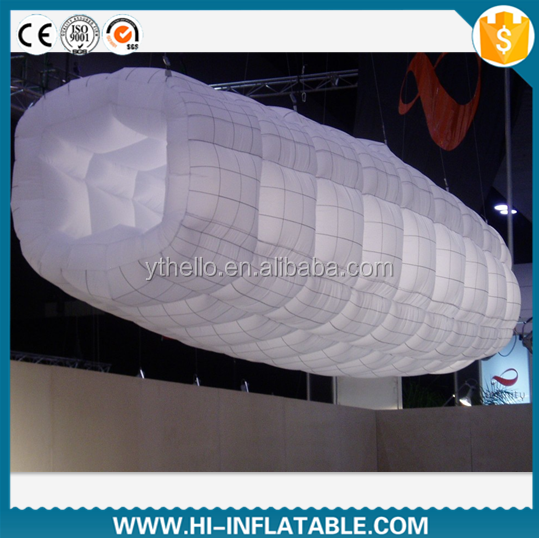 ceiling/hanging inflatable tube light/led lighting inflatable tube with led bulb/event,party,club decoration