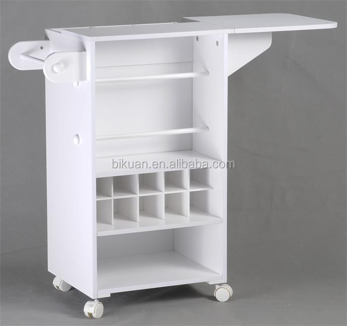 Wooden Diy Craft Wooden Storage Cabinet Cart With Wheels And Folding