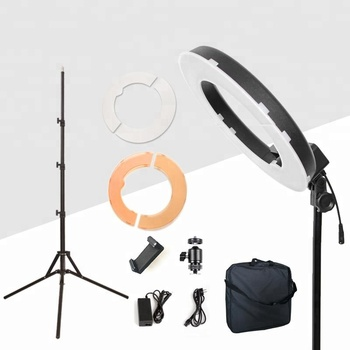 14 inch Photo Studio LED Ring Light 5500K Dimmable Circle Light for camera with Tripod Phone Mount for video/make up/Selfie