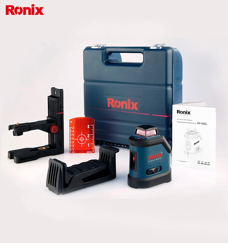 RONIX High Precision Automatic leveling CROSS LINE LASER LEVEL RH-9502