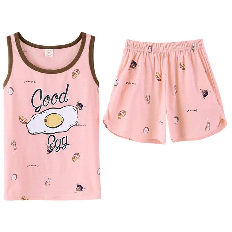 8df8d6a04 Get Quotations · KEIA Big Girls/Teen Girls Cartton Egg Sleeveless Summer  Pajamas Set Casual Sleepwear