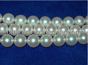 "16"" AAA 8-8.5mm round white loose akoya pearl strand"