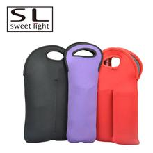 Hot Sell promotion neoprene wine bottle tote Cooler Bag
