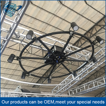 Easy Install Ceiling Lighting Truss System 360 Degree Rotating Round Roof Aluminum Circle