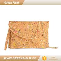 Wholesale cork handbag ladies women clutch bag