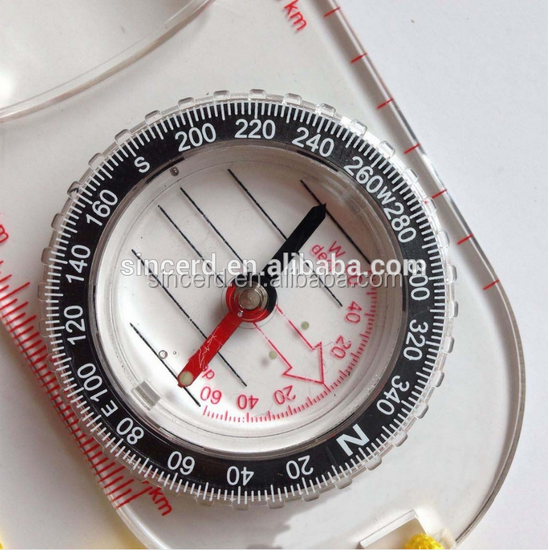 Wholesale multifunction compass with scale map mini plastic compass