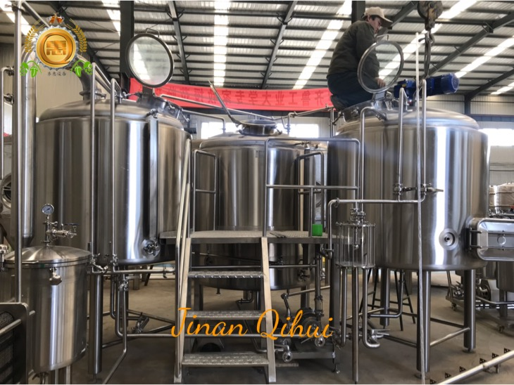 1000L turnkey beer brewing system for commercial brewery