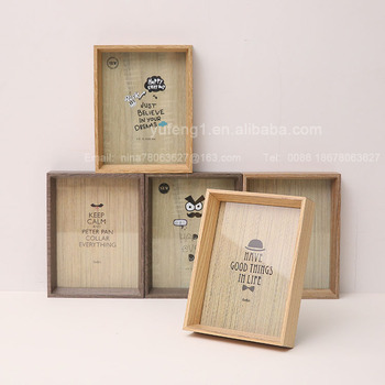 Deep Wooden Box Frame And Shadow