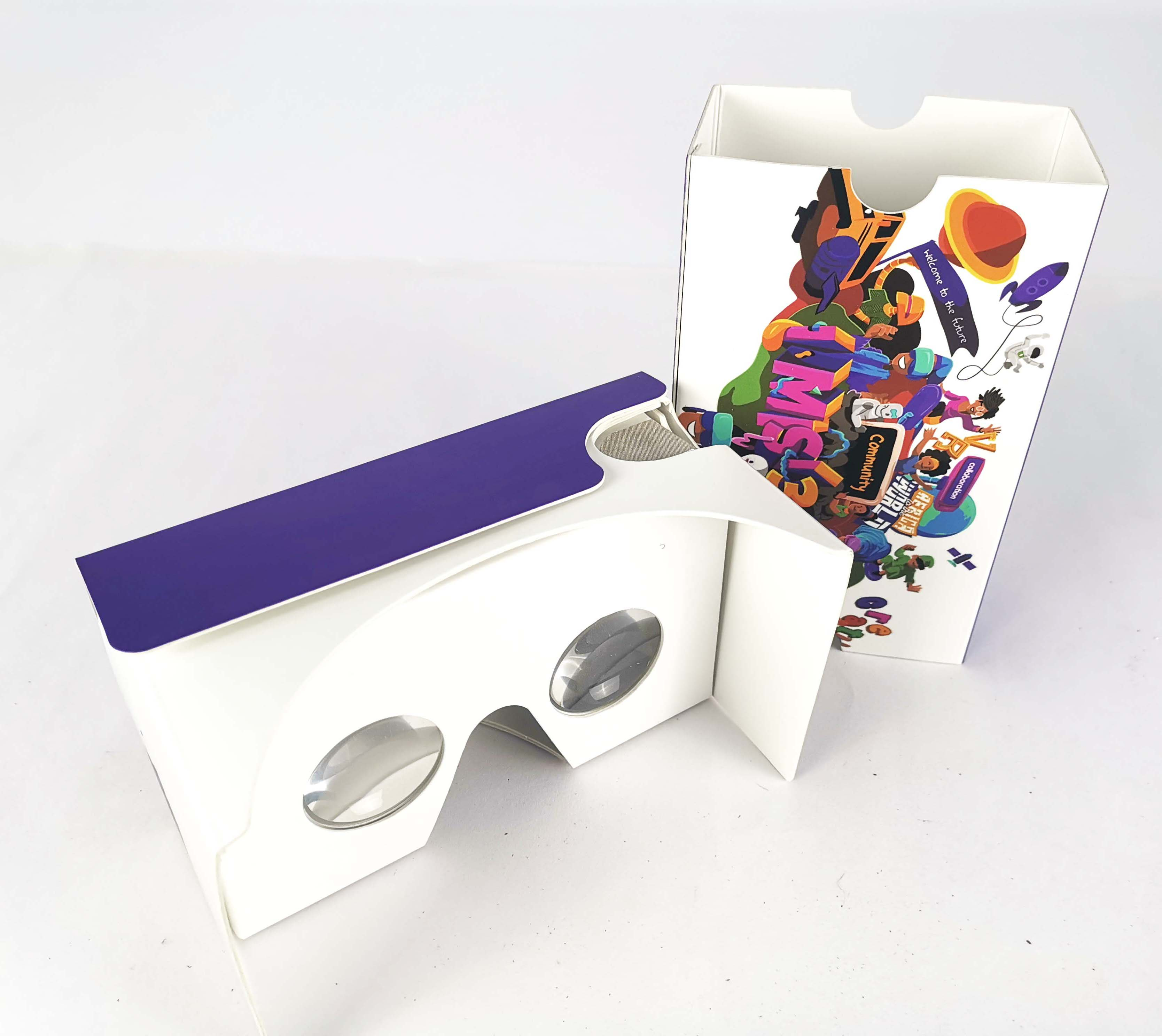 Wholesale Assembled Google Cardboard Kits V2.0 Virtual Reality  3D Glasses Viewers Box