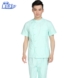 High quality custom hospital standard medical textile scrubs for men
