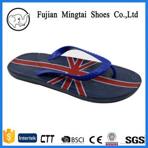 China factory Outlet Cheap Wholesale Flip Flops Have Printing National Flag