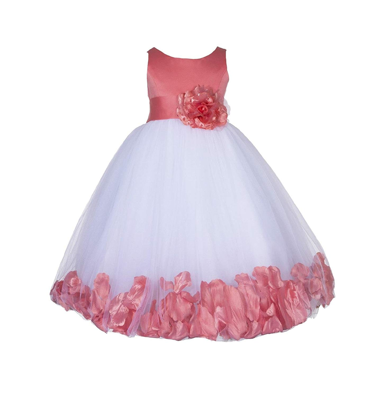 9bfc363e727 Get Quotations · ekidsbridal Rose Petals Flower Girl Dresses Toddler Girl  Dresses Graduation Dress Formal Dresses 167S