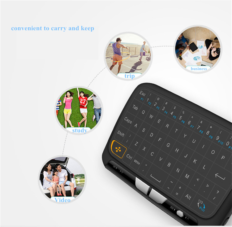 Pendoo 2.4G Wireless Vibration Large Touch pad Keyboard H18 for android tv box for set top box wifi