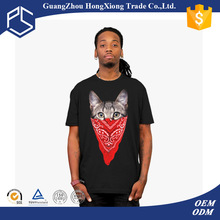 Custom printed wholesale men short sleeve black graphic t-shirts