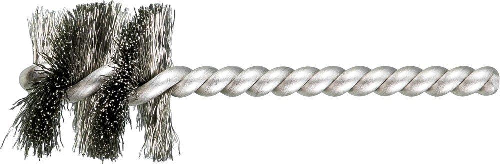 """PFERD 83405 SpyraKleen Tube Brush, Single Stem/Spiral, .008"""", Stainless Steel Wire (INOX), 1-1/8"""" Diameter, 1/4"""" Stem, 1"""" Brush Part Length (Pack of 36)"""
