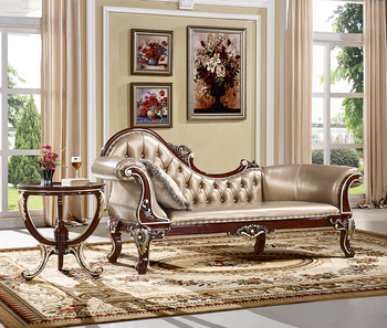 Solid Wood Living Room Furniture Royal Chair And Small Round Coffee
