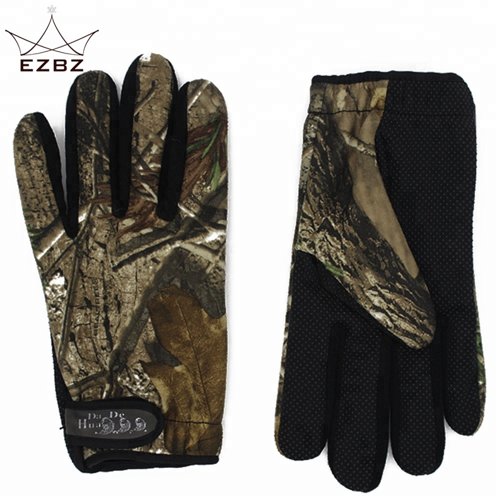 Full Finger Windproof Water Rain Resistant Silicone Palm Outdoor Bike Sport Hunting Gloves for Climbing Moutain фото