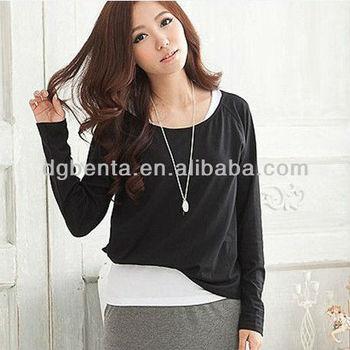 2015 das mulheres casual dressy t camisa de manga curta coreano camisa lisa  t oem por 0ca0f97670c6d