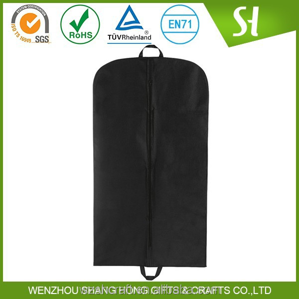 Custom printed wholesale nonwoven/polyester/cotton garment bag suit cover
