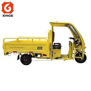 Battery operated three wheel vehicle for cargo