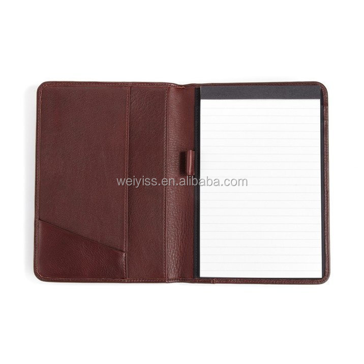 document portfolio top grade leather cover holder for file