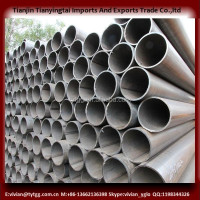 black round pipe in stock with 6m length shipping from china