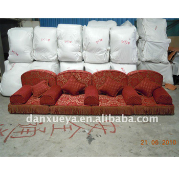 Fabric Red Color Arabic Floor Seating Imported From Guangzhou