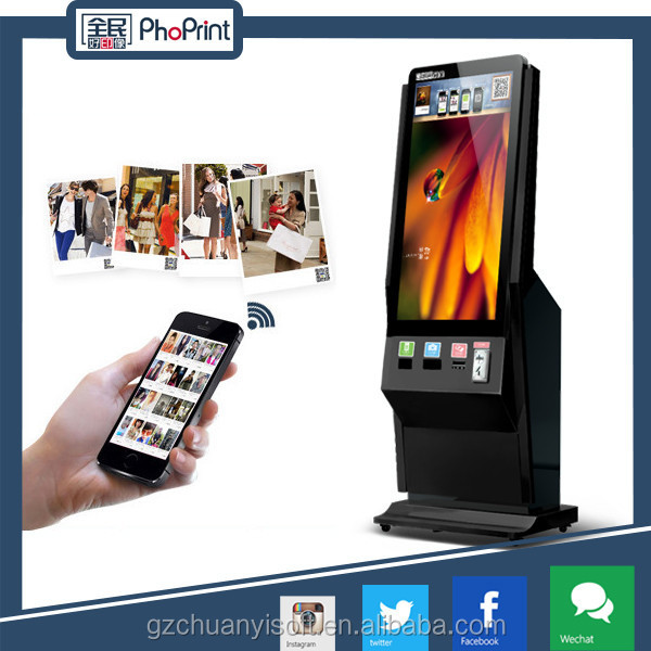 42 inch floor standing real hd media player with touch screen with photo print funtion