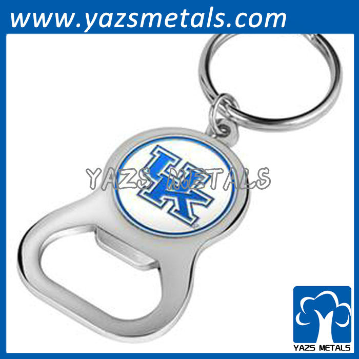 beer bottle opener keychain silver colour with customized logo