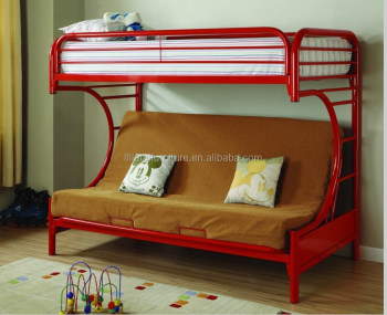 Beds Bearcat Twin Over Full Futon Metal Bunk Bed Red Buy Metal Frame Bunk Beds Twin Over Queen Bunk Bed Twin Queen Metal Bunk Beds Product On