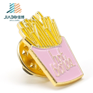 china factory French fries commemorative gifts plating stamping collar metal custom pins metal blanks for lapel pin