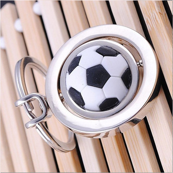 Personalised gift promotional soccer logo sport keychain